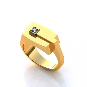 Кольцо на заказ. Модель STL27
