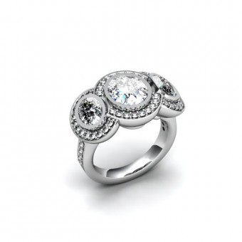 Женские кольца на заказ. Модель К-1038