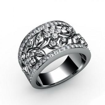 Женские кольца на заказ. Модель К-1064