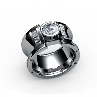 Женские кольца на заказ. Модель К-1017В