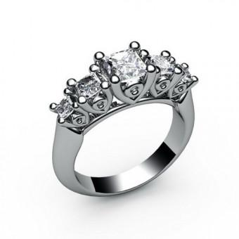 Помолвочные кольца на заказ. Модель ПК-1037