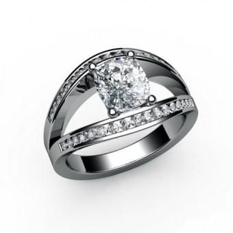 Помолвочные кольца на заказ. Модель ПК-1038