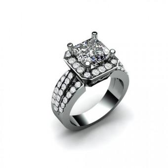 Помолвочные кольца на заказ. Модель ПК-1054