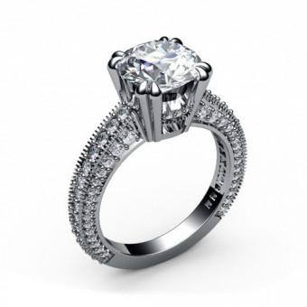 Помолвочные кольца на заказ. Модель ПК-1088