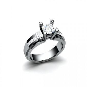 Помолвочные кольца на заказ. Модель ПК-1090