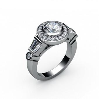 Помолвочные кольца на заказ. Модель ПК-1093