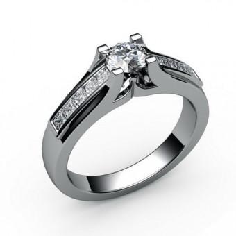 Помолвочные кольца на заказ. Модель ПК-1096