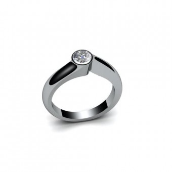 Помолвочные кольца на заказ. Модель ПК-1099