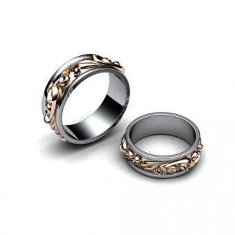 Свадебные кольца на заказ. Модель СК-1011ж