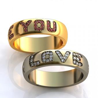 Обручальное кольцо на заказ. Модель obr-101