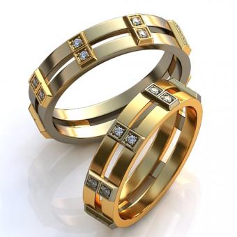 Обручальное кольцо на заказ. Модель obr-104