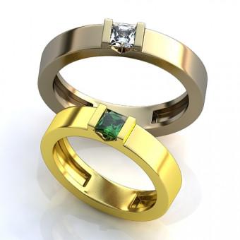 Обручальное кольцо на заказ. Модель obr-120