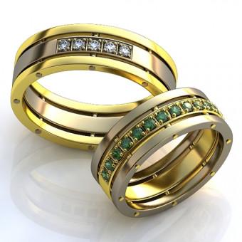 Обручальное кольцо на заказ. Модель obr-121