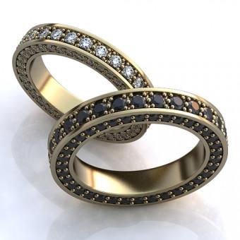 Обручальное кольцо на заказ. Модель obr-122