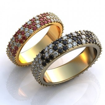 Обручальное кольцо на заказ. Модель obr-123