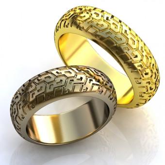 Обручальное кольцо на заказ. Модель obr-126