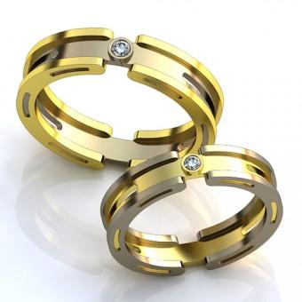 Обручальное кольцо на заказ. Модель obr-129