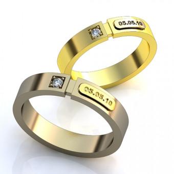 Обручальное кольцо на заказ. Модель obr-130