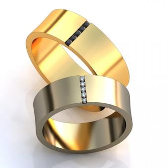 Обручальное кольцо на заказ. Модель obr-136