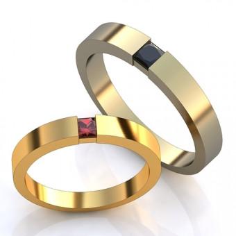 Обручальное кольцо на заказ. Модель obr-134