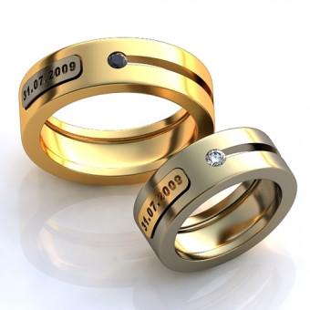 Обручальное кольцо на заказ. Модель obr-116