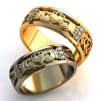 Обручальное кольцо на заказ. Модель obr-125