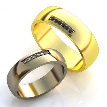 Обручальное кольцо на заказ. Модель obr-138