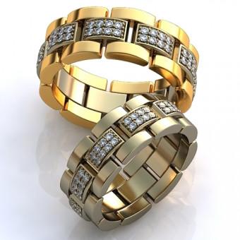Обручальное кольцо на заказ. Модель obr-108