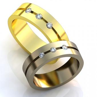 Обручальное кольцо на заказ. Модель obr-137