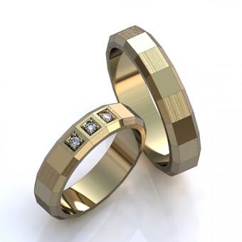 Обручальное кольцо на заказ. Модель obr-13