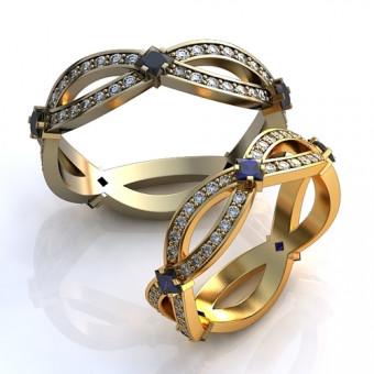 Обручальное кольцо на заказ. Модель obr-112