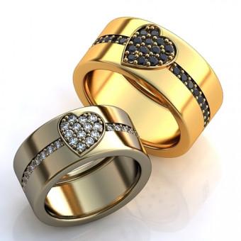 Обручальное кольцо на заказ. Модель obr-118