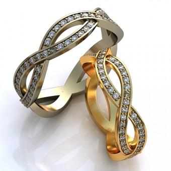 Обручальное кольцо на заказ. Модель obr-111
