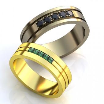 Обручальное кольцо на заказ. Модель obr-133