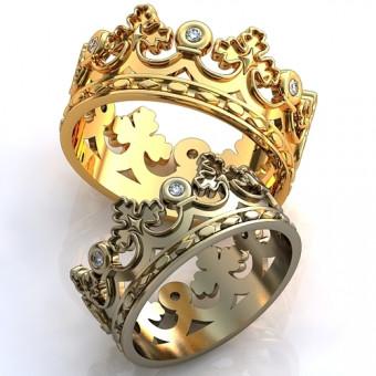 Обручальное кольцо на заказ. Модель obr-114
