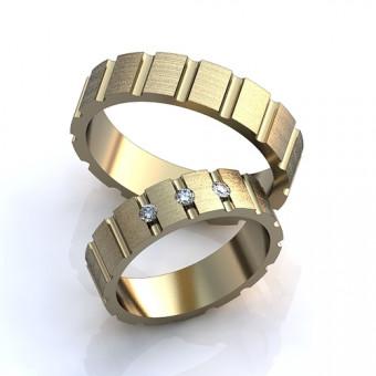 Обручальное кольцо на заказ. Модель obr-12