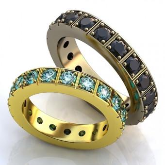 Обручальное кольцо на заказ. Модель 176