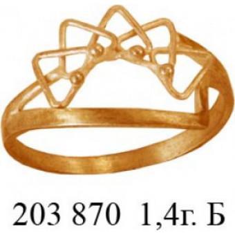 Кольца без вставок на заказ. Модель 203870