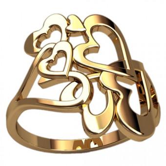 Кольца без вставок на заказ. Модель 2464