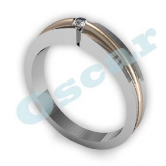 Обручальные кольца на заказ. Модель Os 2008