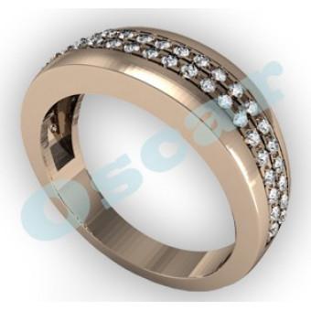 Обручальные кольца на заказ. Модель Os 2027