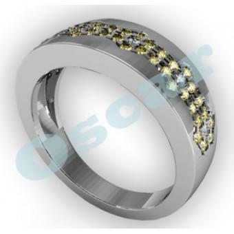Обручальные кольца на заказ. Модель Os 2034