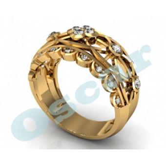 Обручальные кольца на заказ. Модель Os 2038