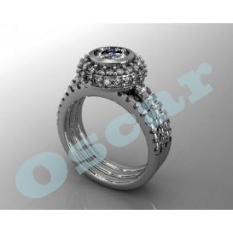 Помолвочные кольца на заказ. Модель Os 2505