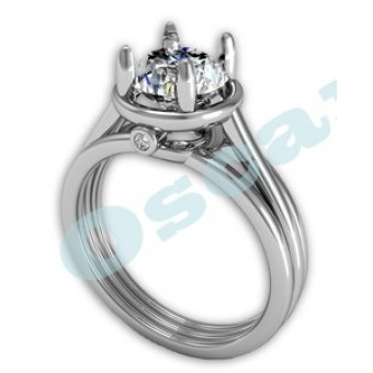Помолвочные кольца на заказ. Модель Os 2509