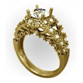 Помолвочные кольца на заказ. Модель Os 2522
