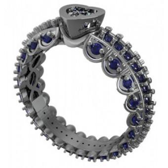 Помолвочные кольца на заказ. Модель Os 2543
