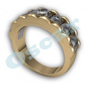 Мужские кольца на заказ. Модель Os 3000