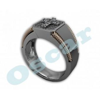 Мужские кольца на заказ. Модель Os 3003