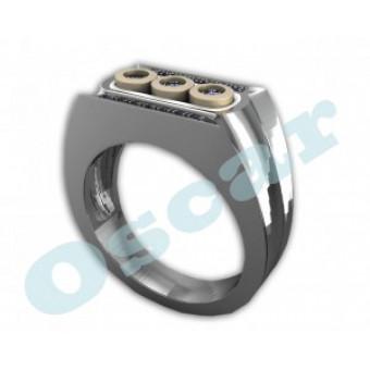 Мужские кольца на заказ. Модель Os 3009